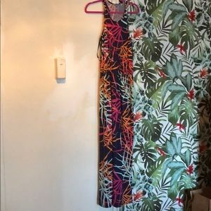 Tori Richard Hawaii Tropical Maxi Dress Racerback